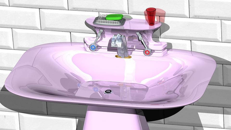 fialové umývadlo
